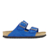 Birkenstock Women's Arizona Slim Fit Suede Double Strap Sandals - Blue: Image 1