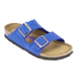 Birkenstock Women's Arizona Slim Fit Suede Double Strap Sandals - Blue: Image 3