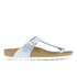 Birkenstock Women's Gizeh Shiny Snake Toe-Post Sandals - Sky: Image 1