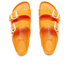 Birkenstock Women's Arizona Slim Fit Double Strap Sandals - Neon Orange: Image 3