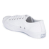 Converse Jack Purcell Unisex Leather Trainers - White/Navy: Image 4