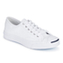 Converse Jack Purcell Unisex Leather Trainers - White/Navy: Image 2