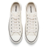 Converse Men's Chuck Taylor All Star Motorcycle Leather Ox Trainers - Parchment/Black/White: Image 2