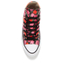 Converse Andy Warhol Chuck Taylor All Star Hi-Top Trainers - Poppy Red/Fuchsia Purple/White: Image 3