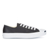 Converse Jack Purcell Unisex Leather Trainers - Black/White: Image 1
