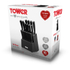 Tower T80702 19 Piece Knife Block - Black: Image 4