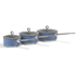 Morphy Richards 973022 3 Piece Saucepan Set - Blue - 16/18/20cm: Image 1