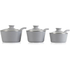 Tower T90921G Taper 3 Piece Ceramic Coated Saucepan Set - Grey - 18/20/22cm: Image 2