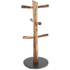 Natural Life NLAS009 Acacia 6 Cup Mug Tree with Slate Base: Image 1