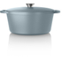 Tower IDT90001 Cast Iron Round Casserole Dish - Blue - 26cm: Image 4