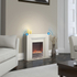 Warmlite WL45023 Bluetooth Fireplace Suite - White: Image 3