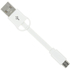 Kit USB to Micro USB Keyring Data & Charge Cable - White: Image 1