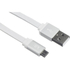 Kit USB to Micro USB Data & Charge Flat Cable - Metallic White: Image 1