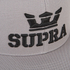 Supra Men's Above Logo Snapback - Silver/Black: Image 4