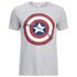 Marvel Captain America Sheild Heren T-Shirt - Grey Marl: Image 1