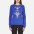 KENZO Women's Logo Sweatshirt - Blue: Image 1