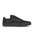 Vans Unisex Old Skool Canvas Trainers - Black/Black: Image 1