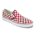 Vans Men's Classic Slip-on Checkerboard Trainers - Rhubarb/White: Image 2