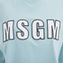 MSGM Women's Logo Cropped T-Shirt - Blue: Image 3
