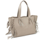 UGG Women's Lea Leather Fringed Tote Bag - Taupe: Image 2
