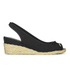 Lauren Ralph Lauren Women's Camille Canvas Wedged Espadrilles - Black: Image 1