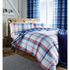 Catherine Lansfield St. Ives Check Bedding Set - Blue: Image 1