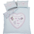 Catherine Lansfield Heart Panel Bedding Set - Duck Egg: Image 2