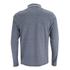Brave Soul Men's Stage Long Sleeve Polo Shirt - Navy/White: Image 2