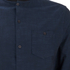 Brave Soul Men's Oakley Collarless Long Sleeve Shirt - Ink/Navy: Image 3