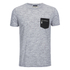 Brave Soul Men's Exit Zip Pocket Fleck T-Shirt - Light Grey: Image 1