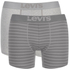 Levi's Men's 200SF 2-Pack Striped Boxers - Grey/White: Image 1