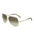 Chloe Women's Metal Edged Aviator Sunglasses - Gold/Brown: Image 2