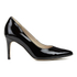 Clarks Women's Dinah Keer Leather Court Shoes - Black Patent: Image 1