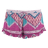 MINKPINK Women's Goodnight Darling Ruffle Edge Shorts - Multi: Image 1