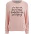 Wildfox Women's Didn't Ask for a Prince Fleece Sweatshirt - Grapefruit: Image 1
