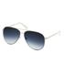 Calvin Klein Platinum Unisex Aviator Sunglasses - Ivory: Image 2