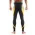 Skins DNAmic Men's Long Tights - Black/Citron: Image 4