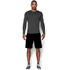 Under Armour Men's ColdGear Armour Compression Long Sleeve Crew Top - Dark Grey: Image 3