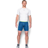 Under Armour Men's HeatGear Armour Printed Compression Shorts - Blue/Yellow: Image 3