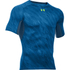 Under Armour Men's HeatGear Armour Printed Short Sleeve Compression Shirt - Blue/Yellow: Image 1
