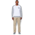 Under Armour Men's Tri-Blend Fleece Crew Sweatshirt - White: Image 3