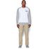 Under Armour Men's Tri-Blend Fleece Crew Sweatshirt - White: Image 3