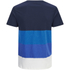 Jack & Jones Herren Core Dylan Block Stripe T-Shirt - Navy : Image 2