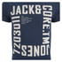 Jack & Jones Men's Core Wall T-Shirt - Navy Blazer: Image 3