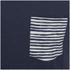 Jack & Jones Herren Originals Raw Stripe Pocket T-Shirt - Dark Blau Denim: Image 3