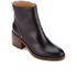 PS by Paul Smith Women's William Leather Diagonal Zip Heeled Mis Boots - Black: Image 2