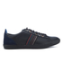 PS by Paul Smith Men's Osmo Leather Trainers - Black Mono Lux: Image 1