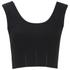 McQ Alexander McQueen Women's Knit Crop Top - Darkest Black: Image 1