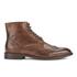 H Shoes by Hudson Men's Greenham Leather Brogue Lace Up Boots - Cognac: Image 1