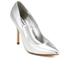 Dune Women's Burst Metallic Court Shoes - Silver: Image 2